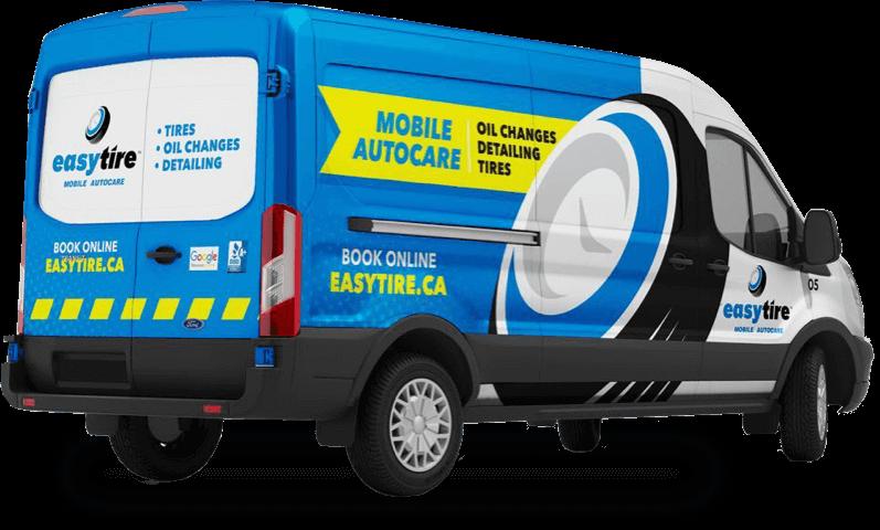 EasyTire mobile oil change truck